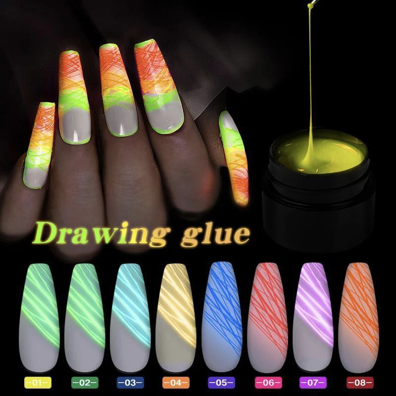 luminous spider nail gel10.jpg